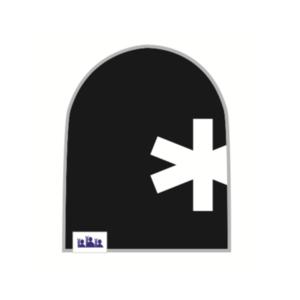 Trikoopipo Musta lumihiutale
