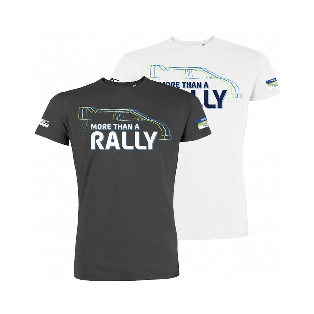 Neste Ralli -T-paita unisex, Autosilhuetti