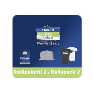 Rallipaketti 2 (Rallipassi, Lippis, T-Paita)